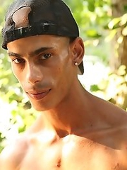 gypsy tattooed guy shows his muscles and beautiful body